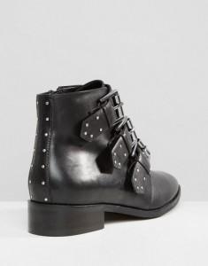 sélection bottines cloutées Asos cuir noir L'atelier d'al blog mode Lifestyle Paris