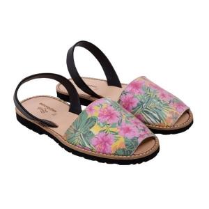sandale-femme-fleurs Minorquines Latelierdal Look summer