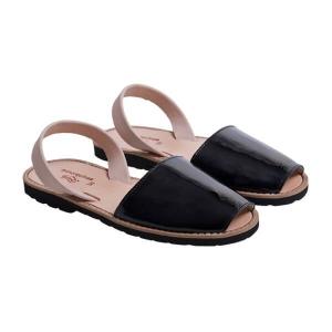 Minorquines Latelierdal Look summer sandales-femmes-vernis-noir