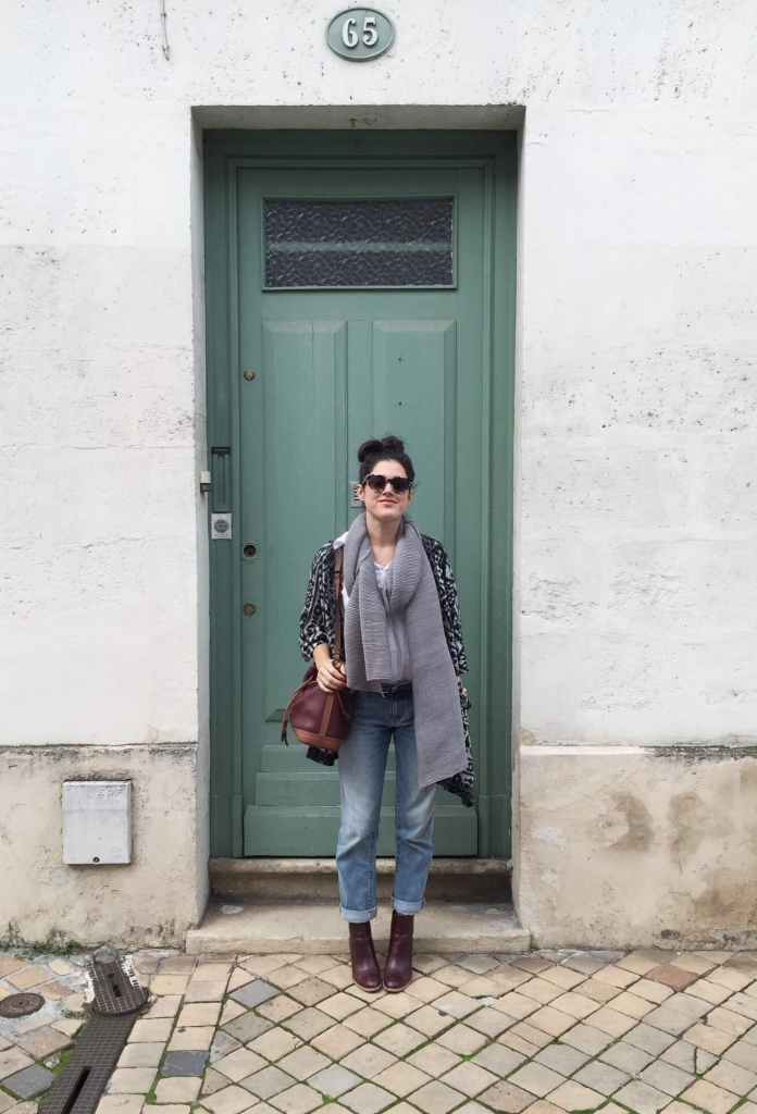 Look L'atelier d'al Bordeaux poncho
