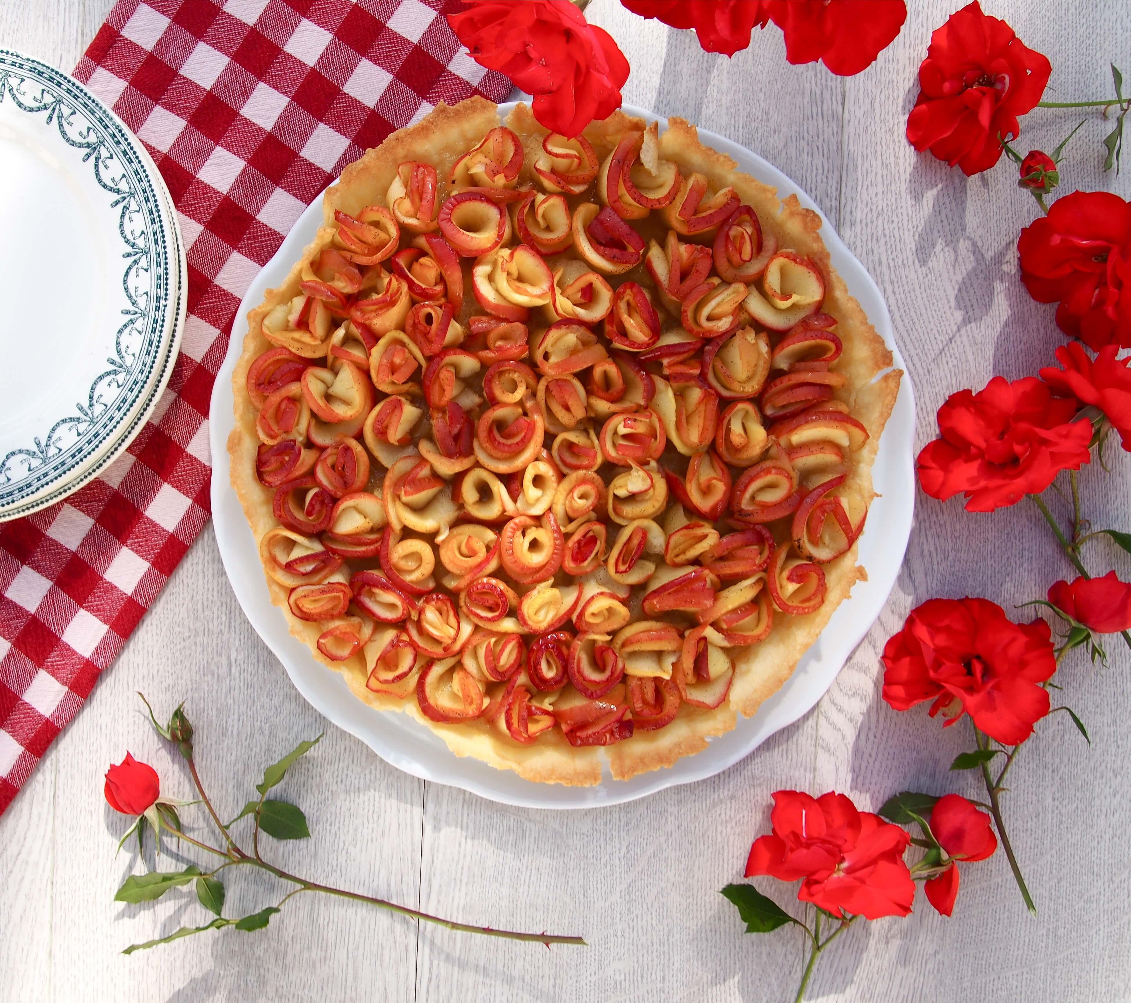 Recette tarte aux pommes en forme de roses L'atelier d'al blog mode voyage food