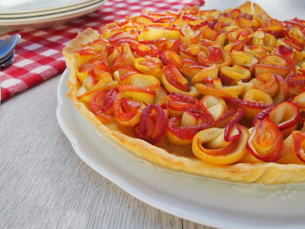 Latelierdal Recette tarte aux pommes en forme de roses