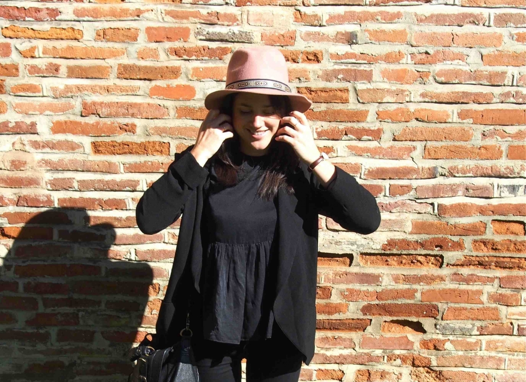 Chapeau rose Pimkie Look L'atelier d'al blog mode