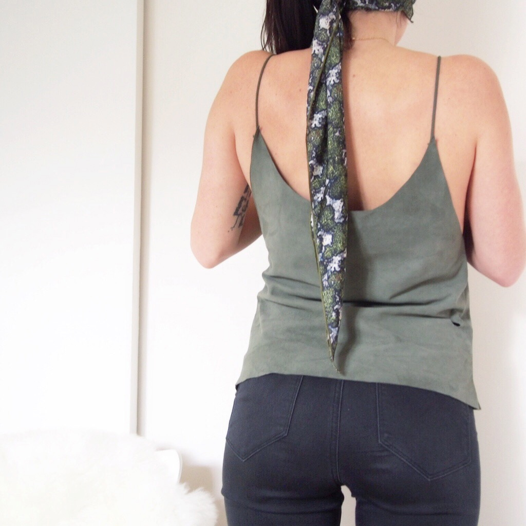 DIY tuto top en cuir sans machine à coudre L'atelier d'al blog mode lifestyle Paris