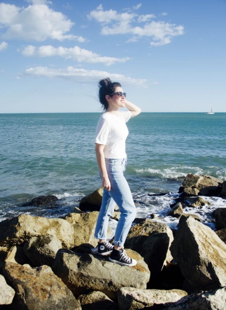 look comment je m'habille shooté au bord de mer L'atelier d'al blog mode lifestyle Paris