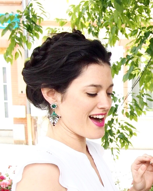 DIY coiffure couronne de tresses facile et rapide L'atelier d'al blog lifestyle mode nattes