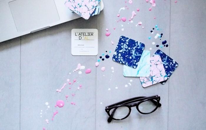 Moo cartes de visite L'atelier d'al blog lifestyle Paris
