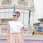 Look summer jupe culotte rose Zara Tee-shirt Wear Lemonade L'atelier d'al blog mode Paris lifestyle DIY travel
