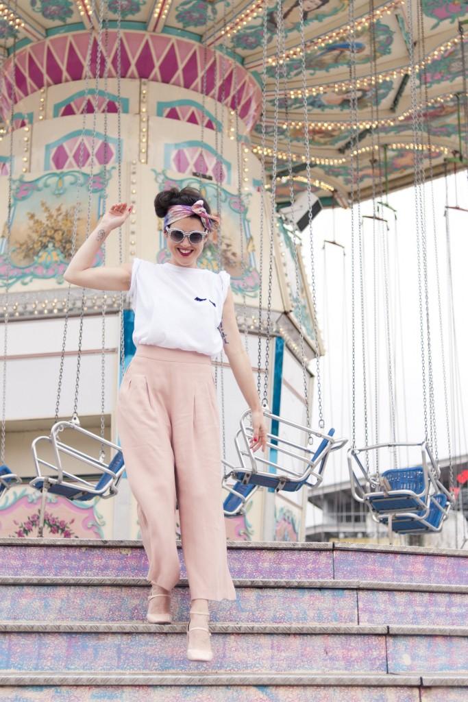 Look summer jupe culotte rose Zara Tee-shirt Wear Lemonade L'atelier d'al blog mode Paris lifestyle DIY travel