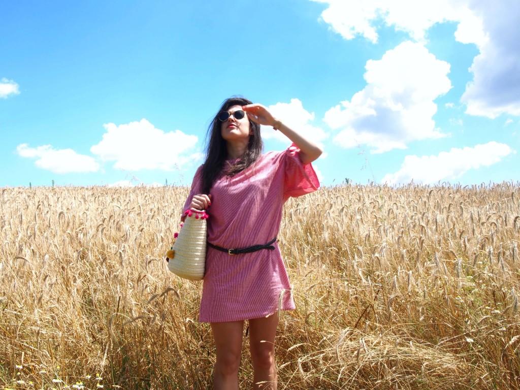 summer look d'été champ de blé l'atelier d'al blog lifestyle mode voyage diy Paris Bordeaux