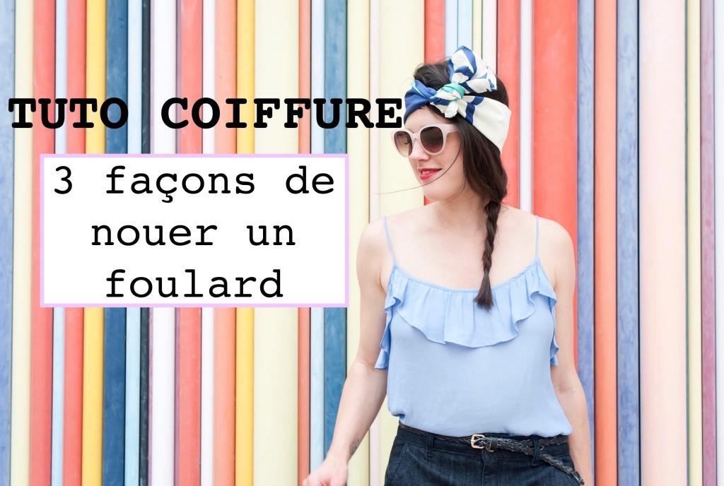tuto nouer un foulard L'atelier d'al blog lifestyle mode voyage DIY Paris Bordeaux