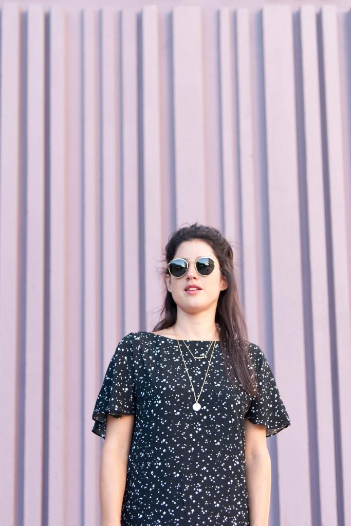 look été Paris robe Zara noire étoiles L'atelier d'al blog lifestyle mode voyage DIY Paris Bordeaux