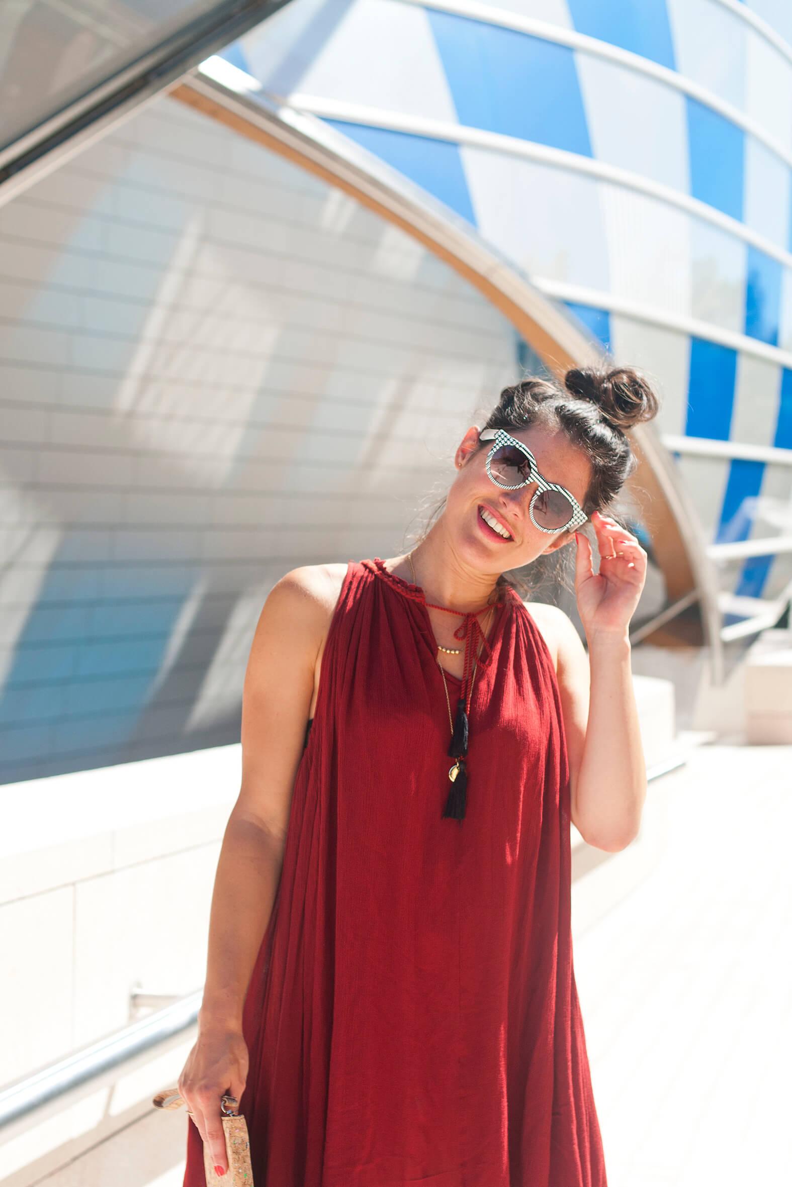summer look robe rouille H&m L'atelierdal blog lifestyle mode voyage DIY Paris Bordeaux