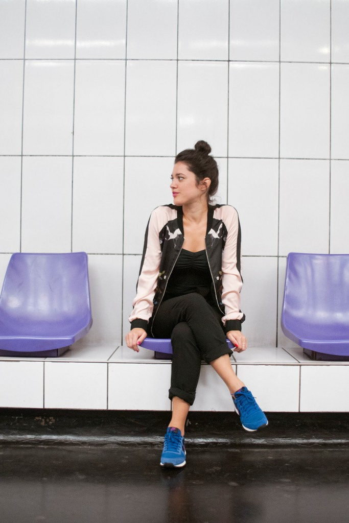Look métro Paris running bomber L'atelier d'al blog lifestyle mode voyage DIY Paris Bordeaux