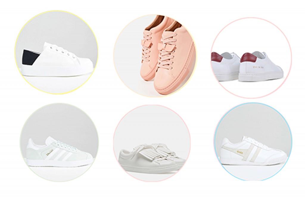 baskets blanches sélection rentrée l'atelierd 'al blog mode lifestyle paris bordeaux