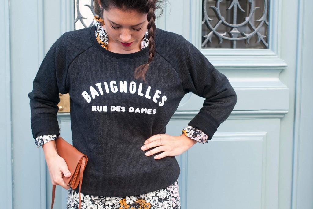 Look rue des Dames sweat Noyoco L'atelier d'al blog lifestyle mode voyage DIY
