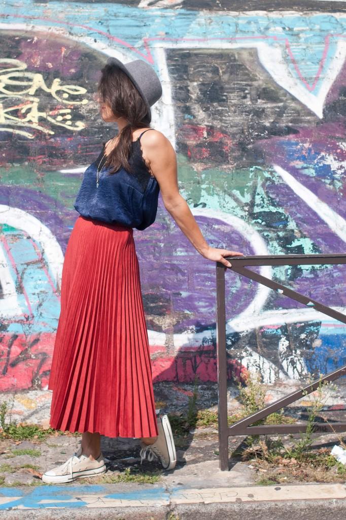 look jupe longue Mango rouge L'atelier d'al blog mode lifetsyle voyage DIY Paris Bordeaux