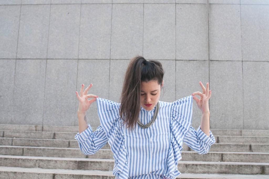 look chemise jabot H&M et boyfriend L'atelier d'al blog mode lifestyle travel DIY Paris Bordeaux