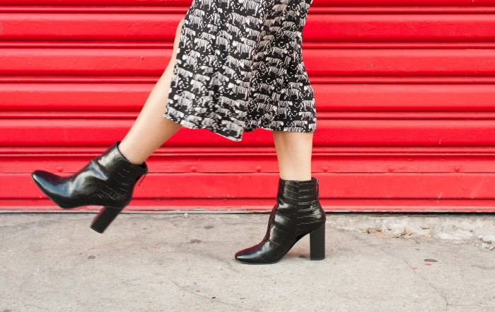 look robe tigre Idano boots noires What For L'atelier d'al blog mode lifetsyle voyage Paris Bordeaux
