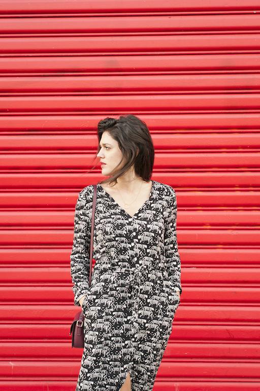 look robe tigre Idano boots noires What For L'atelier d'al blog mode lifetsyle voyage Paris Bordeaux