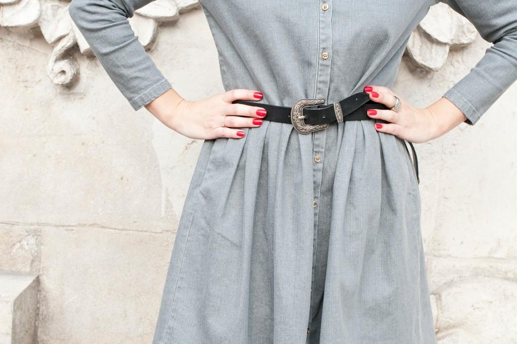 Robe en jean Balzac Paris L'atelier d'al blog mode lifestyle