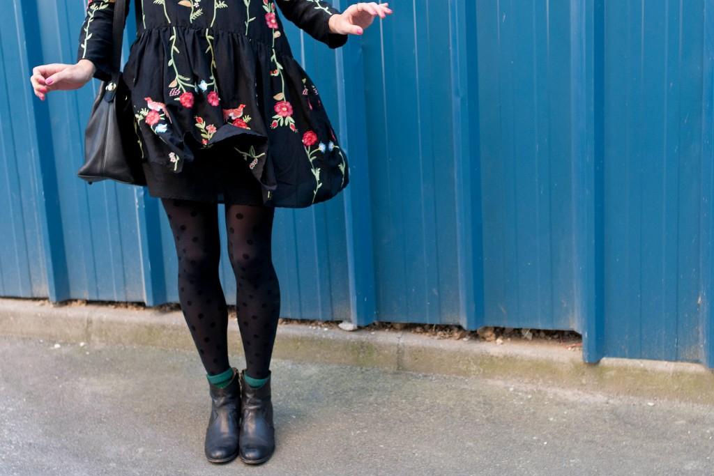 look robe zara fleurie brodée l'atelier d'al blog mode lifestyle paris bordeaux