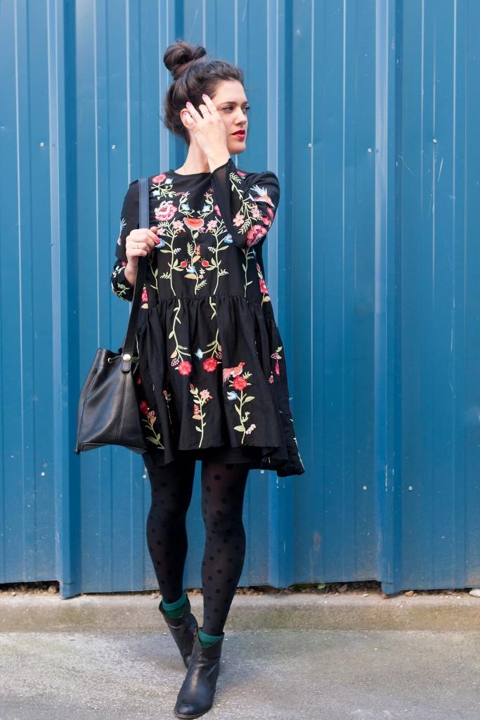 La robe fleurie brodée L'Atelier d'Al