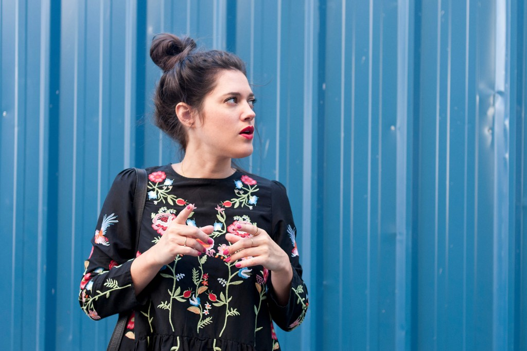 look robe zara fleurie brodée l'atelier d'al blog mode lifestyle paris bordeaux