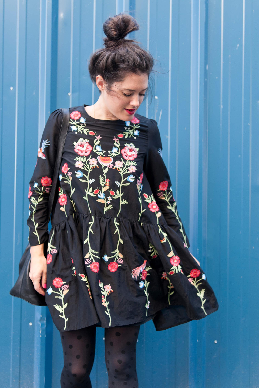 look robe zara fleurie brodée l'atelier d'al blog mode lifestyle paris bordeaux - L'Atelier d'Al
