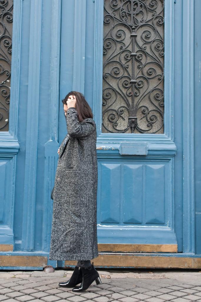 look l'atelier d'al manteau hiver chemise brodée blog mode lifestyle Paris