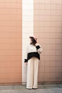 look nude pull hm l'atelier d'al blog mode lifestyle Paris