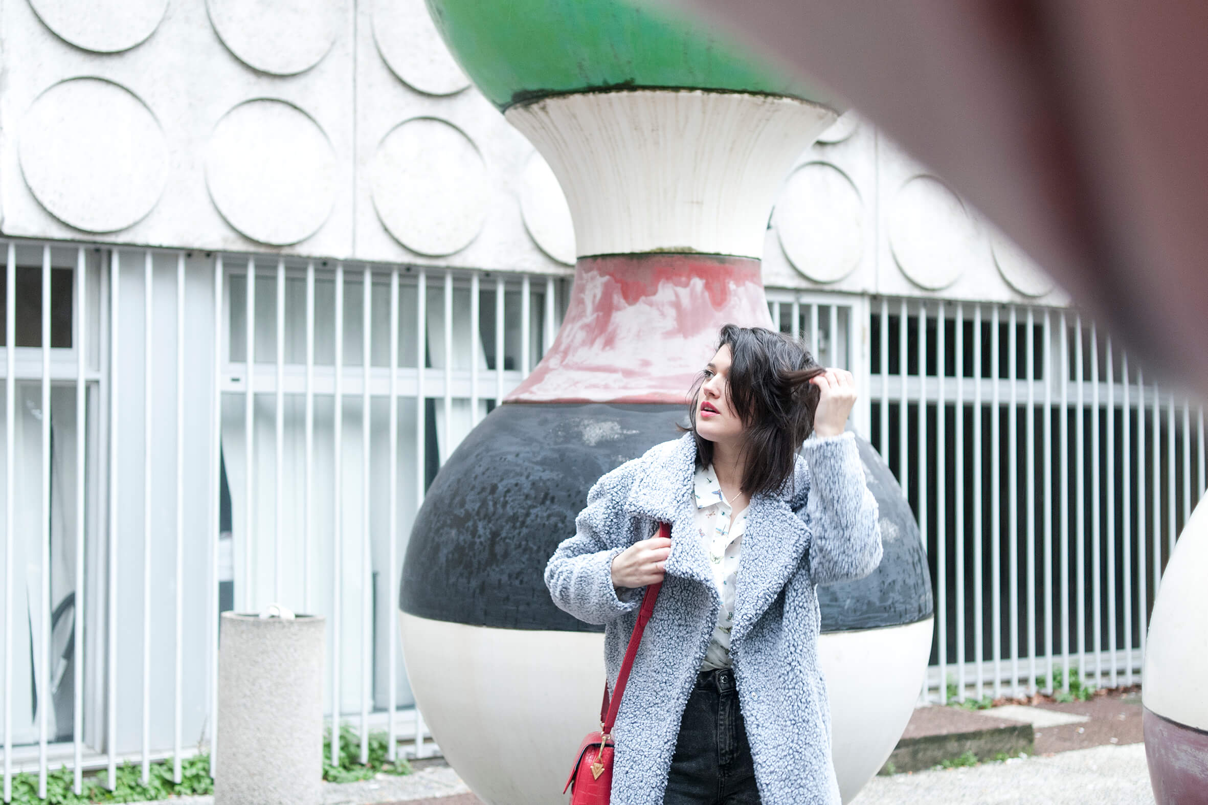 look The Kooples manteau doudou L'atelier d'al blog mode lifestyle Paris
