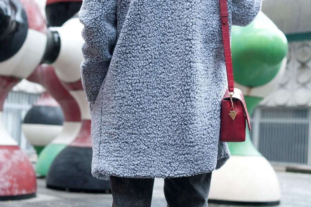 look The Kooples manteau doudou L'atelier d'al blog mode lifestyle Paris