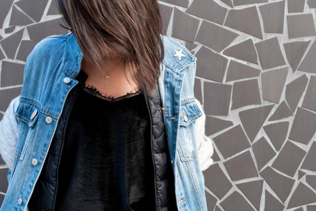 Look veste en jean L'atelier d'al blog mode lifestyle Paris