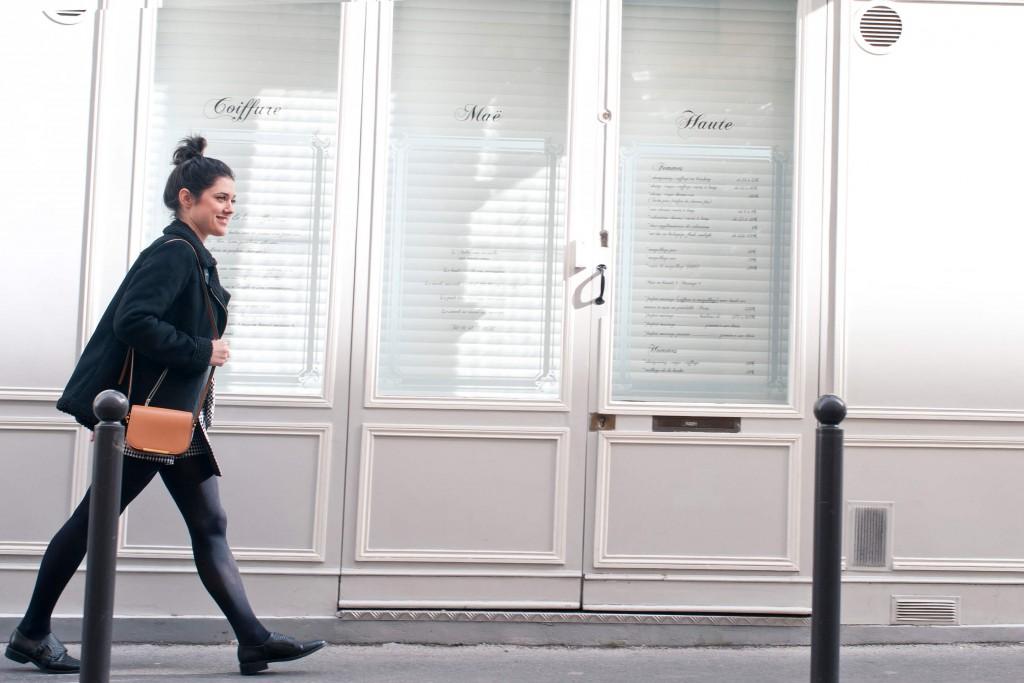 Look jupe vichy bombardier L'atelier d'al blog mode lifestyle Paris