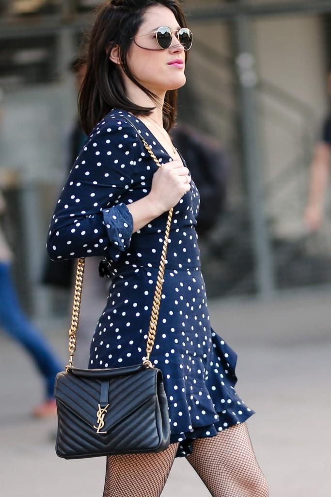 Combi à pois Zara L'atelier d'al blog mode lifestyle Paris