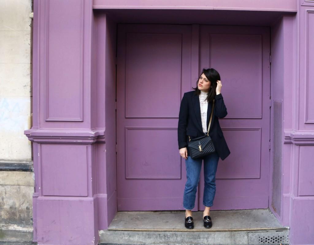 Look basiques top en dentelle L'atelier d'al blog mode lifestyle Paris