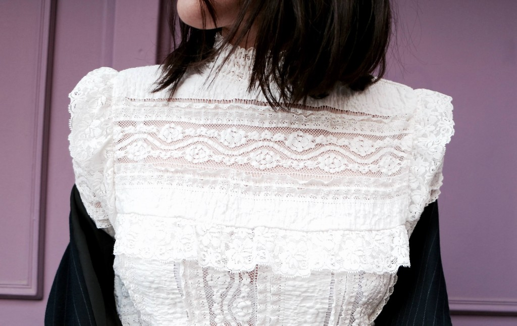 Look top en dentelle h&m L'atelier d'al blog mode lifestyle Paris