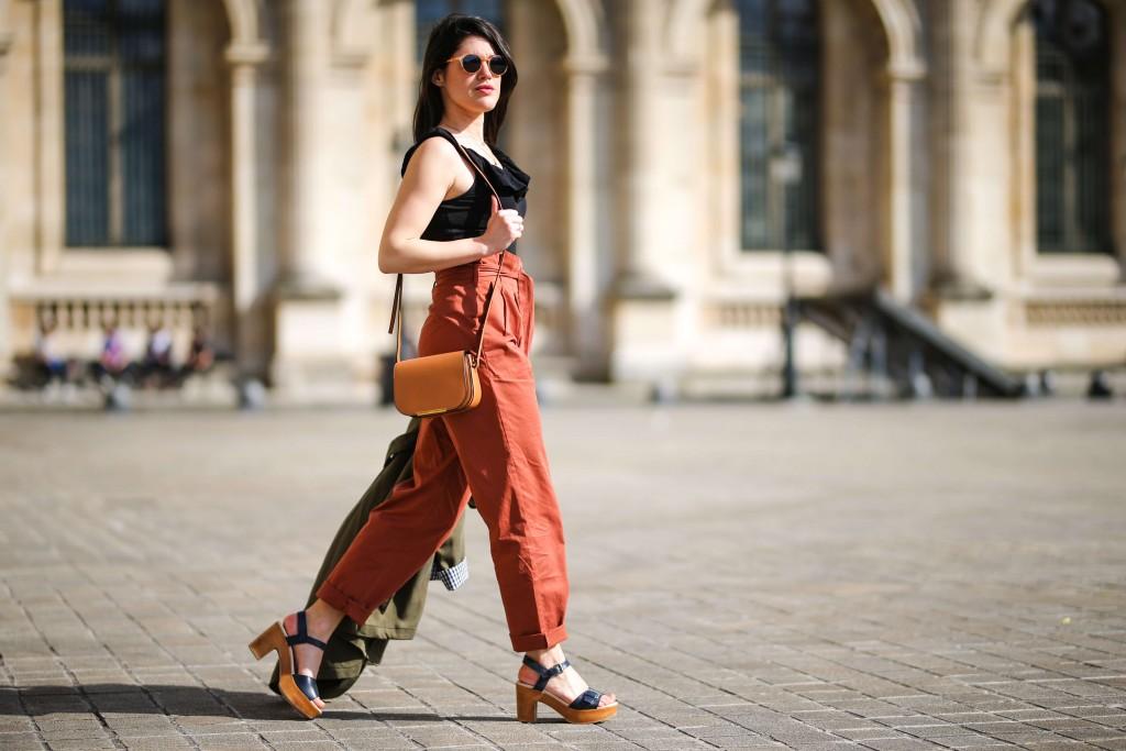 street style Paris look terracotta L'atelier d'al blog mode lifestyle