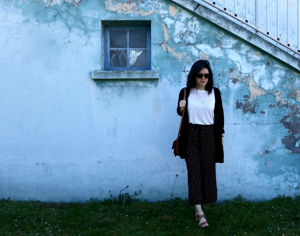 look printemps vintage pantalon pois L'atelier d'al blog mode lifestyle Paris