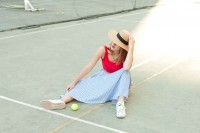 look tennis Roland Garros L'atelier d'al blog mode lifestyle paris