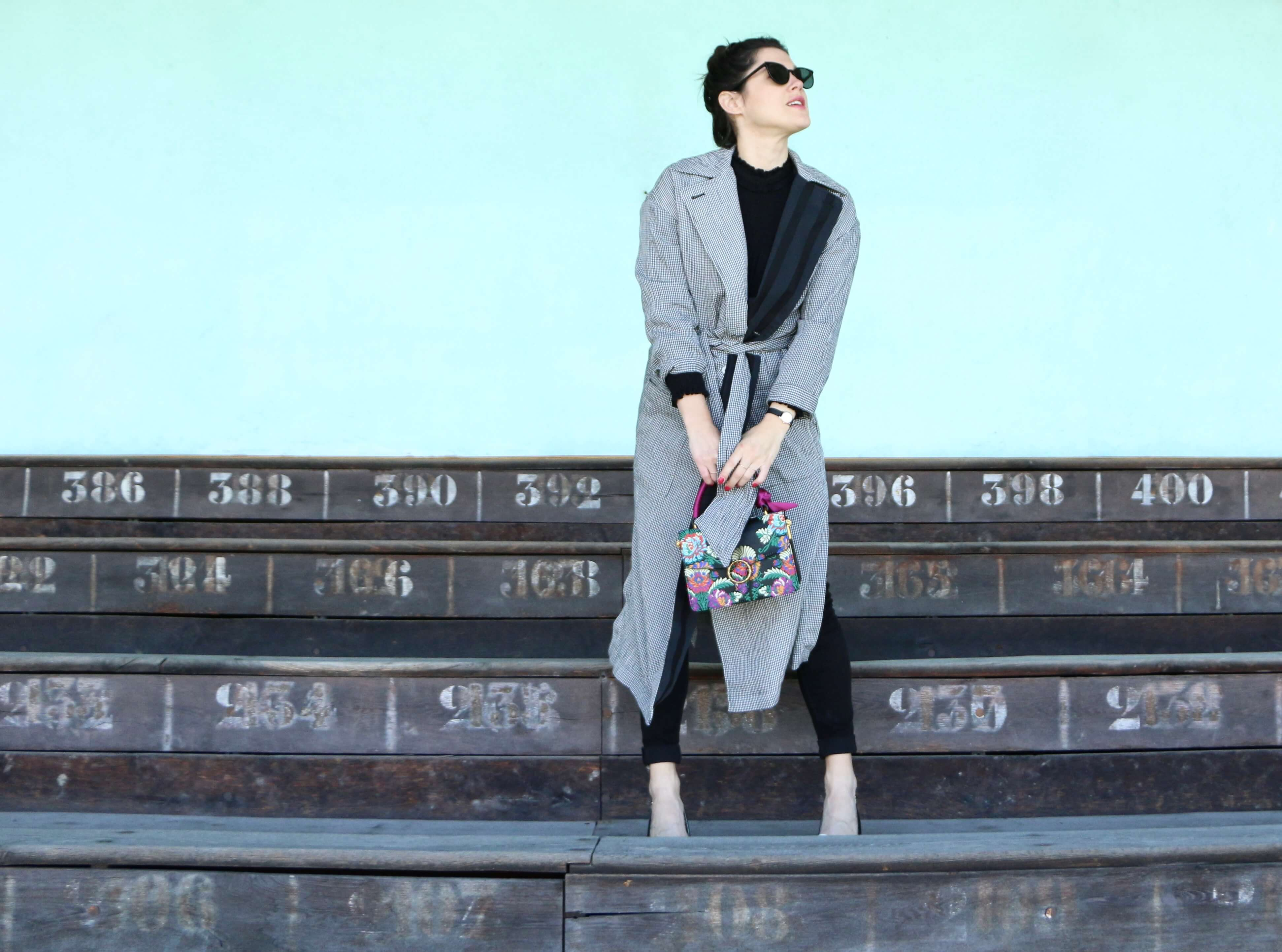 look trench vichy Lener l'atelier d'al blog mode lifestyle Paris