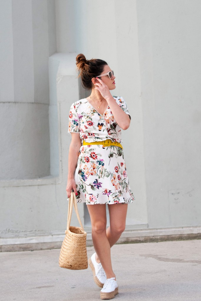 look robe fleurie Grace&Mila baskets compensées L'atelier d'al blog mode lifestyle Paris