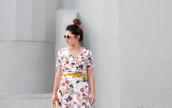 look robe fleurie Grace&Mila baskets compensées L'atelier d'al blog mode lifestyle Paris