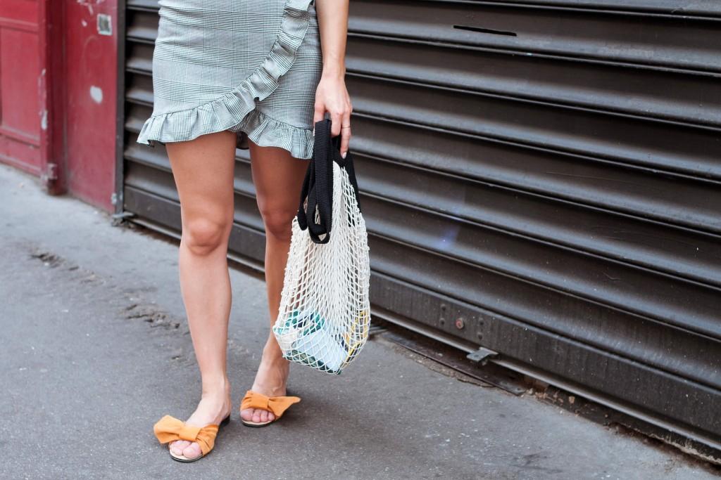 Look tee-shirt ans vichy skirt L'atelier d'al blog mode lifestyle Paris