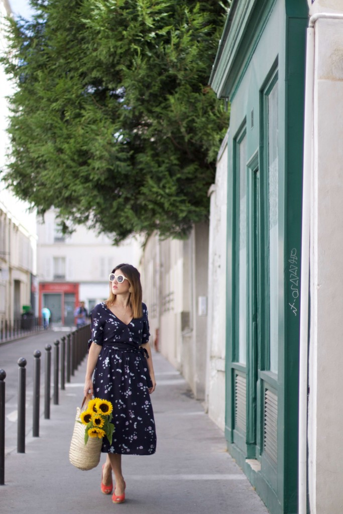 look robe longue à fleurs Showroom privé IRL L'atelier d'al blog mode fashion lifestyle Paris