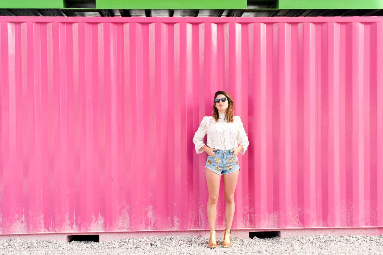 look conteneurs Le havre short à étoiles et blouse en dentelle hm L'atelier d'al blog mode lifestyle DIY Paris
