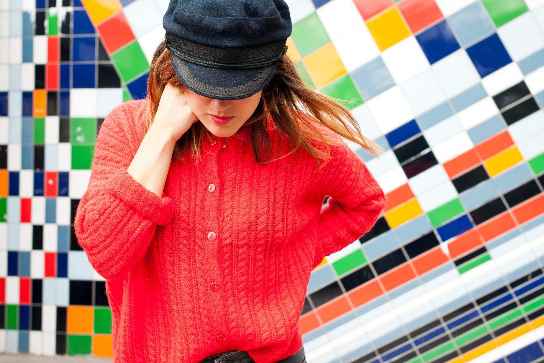 Look gilet orange and boyfriend gris L'atelier d'al blog mode lifestyle Paris