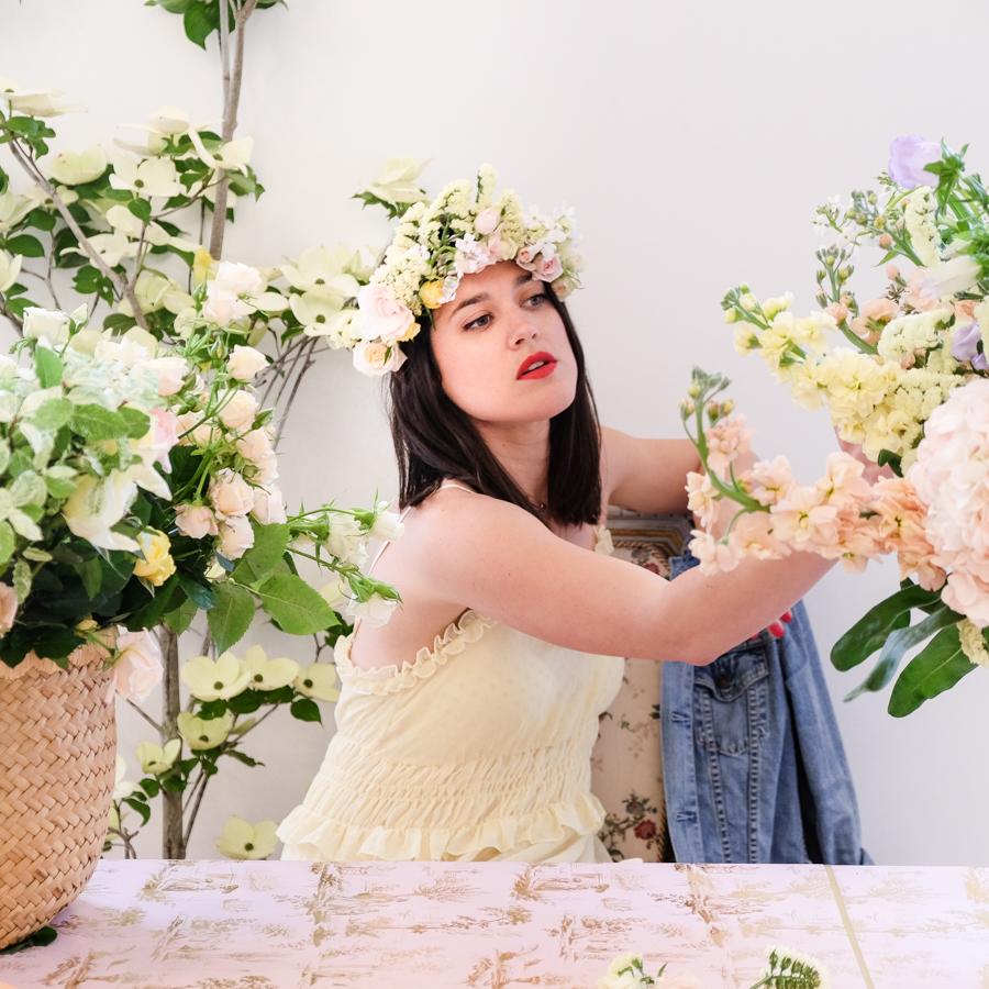 diy tuto couronne de fleurs fraiches l 39 atelier d 39 al blog. Black Bedroom Furniture Sets. Home Design Ideas