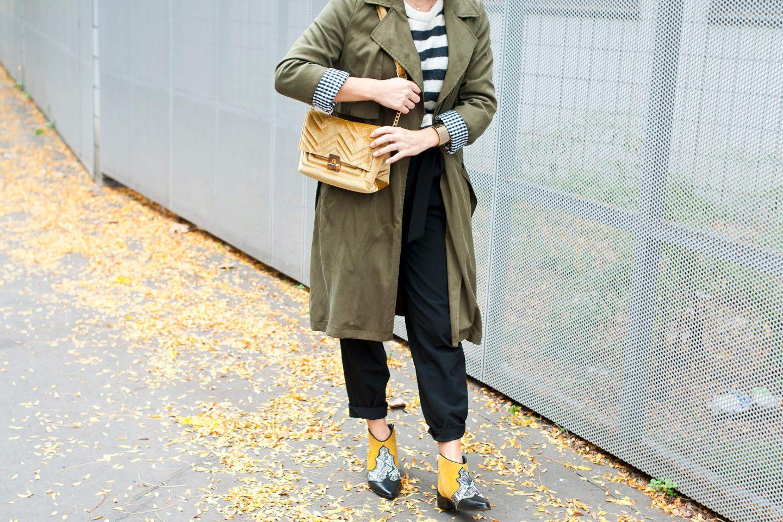 Look bottines zèbre moutarde IKKS L'atelier d'al blog mode voyage lifestyle Paris